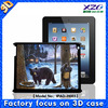animal shape case for ipad with 3d image