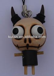 Cute cartoon hanging toy wood doll pendant animal key pendant doll for sale