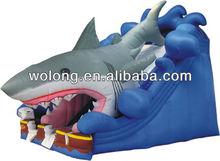 De diversões inflável tubarão tema infláveis crianças deslizar