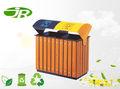 Madeira ao ar livre caixa de lixo dustbin