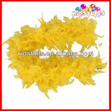 Yellow Turkey Chandelle Feather Boas Small MOQ