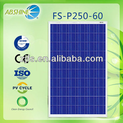 Best price per watt evacuated solar panels of FS-p250-60