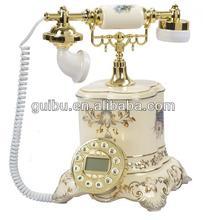 luxury fashion ceramic decorative antique style telephone made in china