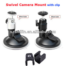 Swivel Camera Mount Car Suction Cups with clamp for camera/flashlight/dv