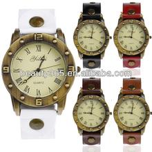 New Women's Quartz Synthetic Leather Bracelet Wrist Watch Roman Number 5 Colors