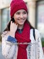 2013 de la moda de punto las mujeres sombrero de invierno y bufanda conjunto