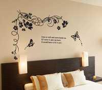 Walplus Wall Stickers art Mural Children's Kids Nursery Baby Bedroom Butterfly Vine Decorations