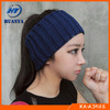 wide knitting wool fashional girl's headband wholesale