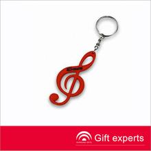 Best selling music mark Keyring custom logo silicon keychains