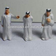 4.0cm ap50-5 miniature peinte arabe. personnes/train hobby shop/acc. miniatures