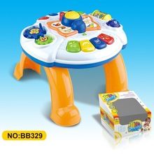 Plastic Electric Kids Learning desk with music,lights,baby laughter