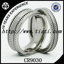 Stainless steel chain ring for finger