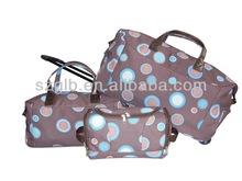 Purple circle good quality fashionable beautiful apperance luggage 4 pc set