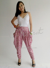 Colored pants Harem Rayon Ladies Trouser with Art Printed