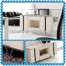2013 beige marble top modern acacia wood sideboard buffet W100