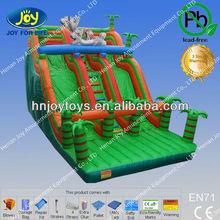 Rabbit and green tree inflatable slip n slide