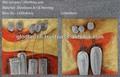 خلاصة زهرة الحديثة الفن التجريدي جدار معدني 3d sculptrue اللوحة مع قماش الفنون التجريدية وحة زيتية