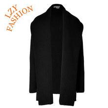 2014 winter waterfall open big collar cardigan sweater