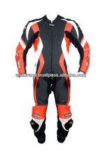 One Piece Red & Black Motorbike Suit
