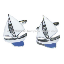 Blue Yachts, Sailing, Boat Novelty Cufflinks
