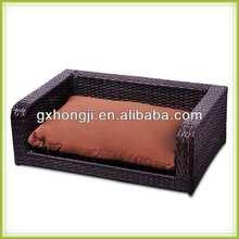 Luxury metal frame PE rattan dog sofa bed