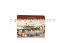 J&G brand corrugated wine carrier