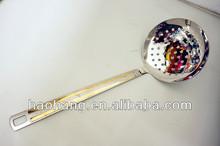 2014New stainless steel kitchenware skimmer