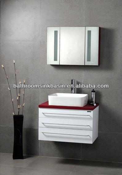 Houten badkamer ijdelheid dubbele wastafel badkamer meubel badkamer ijdelheden en wastafel - Moderne overwinning ...