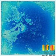 Surfloor brand liquid color tiles vinyl dance floor cover