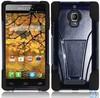 T kickstand LF Black Dual Layer Hybrid pc+silicone Case for Alcatel One Touch Fierce 7024W
