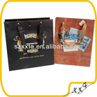 high quality black and brown wine paper gift bags with cotton ribbon handle