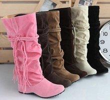 Velvet Flat Boots
