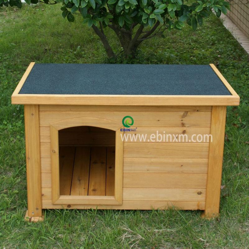 flat roof wood dog kennels XEP0106