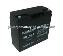 6-dzm-20 12v 20ah e-bike lead acid battery
