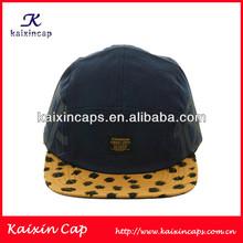 Printed Logo Leopard Brim 5 Panel Hat Camp Hta/Cap Custom Fitted Hat No Minimum