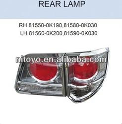 TOYOTA FORTUNER REAR LAMP RH:81550-0K190 81580-0K030 LH:81560-0K200 81590-0K030