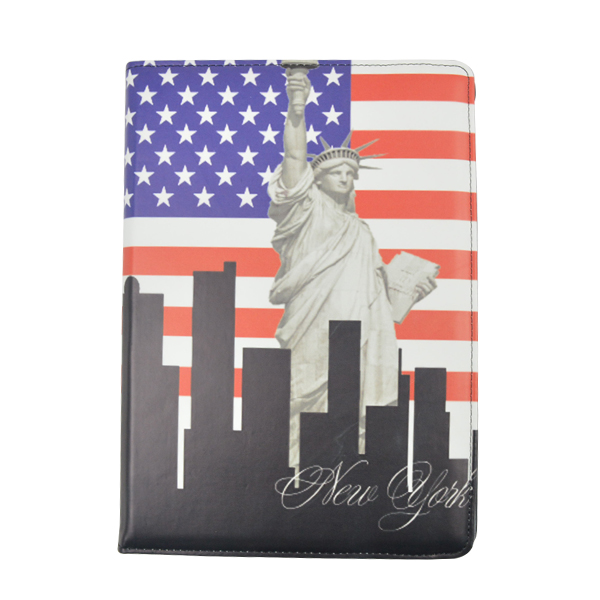 Top sale ! National Flag Leather Case for iPad air Cover --- made in China