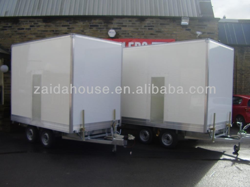 Travel trailer aluminum siding, Portable Toilet, Movable trailer Toilet