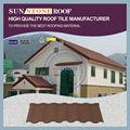 Decorativos azulejos ridge/de pvc del techo agitar/tejas de color mirador de metal del techo de acero