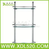 metal shower rack/v shaped wall shelves/bathroom corner glass shelves