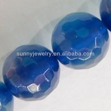 blue agate stone, round 6-10mm, 16-inch per strand
