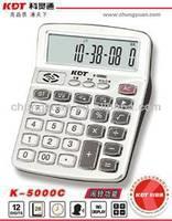 aluminium world time digital calendar desk top calculator K-5000C
