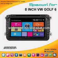8inch vw golf 6 car radio gps16:9 TFT high definition LCD single din radio tv bt blue&me canbus