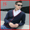 V neck simple slim cardigan sweater men clothing
