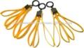 Asp tri- individual doble- el uso de restricciones amarillo de plástico desechables esposas