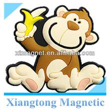 Promotional Gift Lovely Monkey and Banana Soft PVC Fridge Magnet