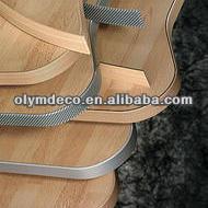 pvc silver edging plastic furniture edge banding ;woodgrain PVC edge banding for MDF; PVC Edge Band Tape