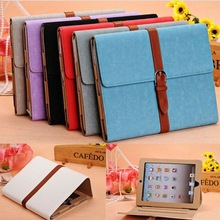 luxury retro belt tooled leather case for ipad