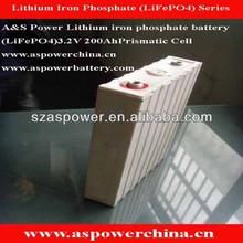 solar energy solar power storage battery 3.2V 200Ah