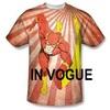 Sublimated T shirt custom polyester fabric